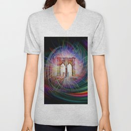 Our world is a magic - Time Tunnel 101 Unisex V-Neck