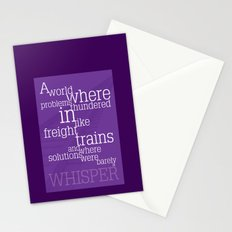 Thundering Problems And Whispering Solutions Stationery Cards