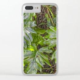 Luscious Green Rainforest Vine Clear iPhone Case