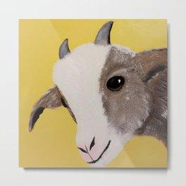Original Painting - Farm Friends - Baby Goat Metal Print