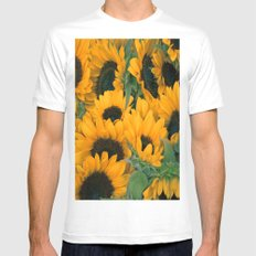 Sunflowers Mens Fitted Tee SMALL White