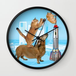 Space Exploration Team Wall Clock