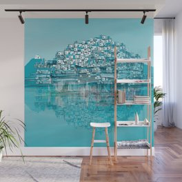 Turquoise Wall Mural