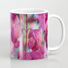 Season Autumn Purple Leaves Coffee Mug