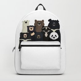 Bear family portrait Backpack