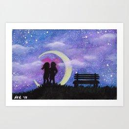 Galactic Lovers Art Print
