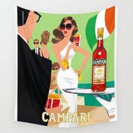 1970 Campari Vintage Cordial Italian Riviera Amalfi Coast Aperitif Advertisement Poster Wall Tapestry