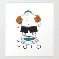 yolo Art Prints featuring yolo by Louis Roskosch