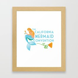 Simple Logo ·•· California Mermaid Convention Framed Art Print