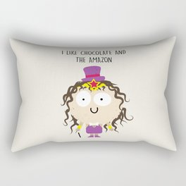 Amazon Chocolate Rectangular Pillow