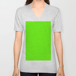 Bright Green Unisex V-Neck
