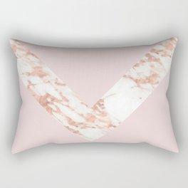 Queen pink - rose gold chevron Rectangular Pillow