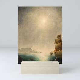 Charles Piazzi Smyth - Daylight View over Table Bay Showing the Great Comet of 1843 Mini Art Print
