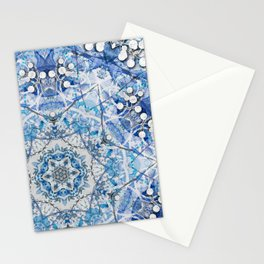Blue Flake Stationery Cards