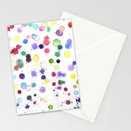 Watercolor Splash Paint Splatter Stationery Cards
