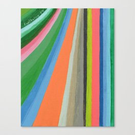 Transforming Vertical Stripes Canvas Print
