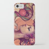 leah flores iPhone & iPod Cases featuring Leah by Megan Lara