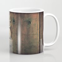 wooden Mugs featuring Wooden Owl by Dorothy Pinder