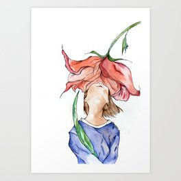 Olor a flor Art Print