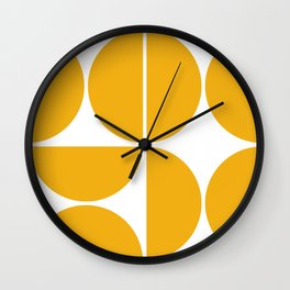 Mid Century Modern Yellow Square Wall Clock