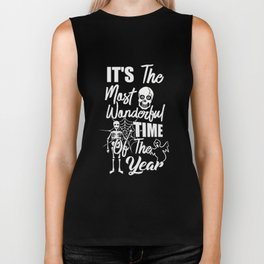 It's The Most Wonderful Time Of The Year Halloween Shirt Biker Tank