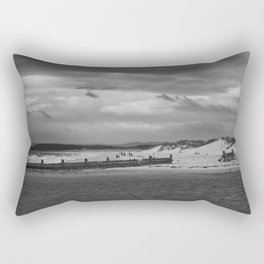 Panaromic of Lossiemouth beach on west coast of Scotland Rectangular Pillow