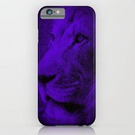 Indigo Lion iPhone Case