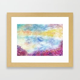 Sky Watercolor Art Illustration Framed Art Print
