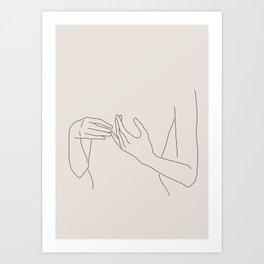 Abstract Line Art Art Print