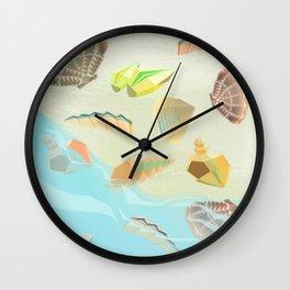 Sea shells - Aquamarine Wall Clock