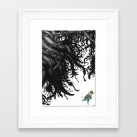 lovecraft Framed Art Prints featuring Lovecraft 3 by Erwann Surcouf