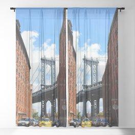 That Brooklyn View - The Empire Peek Sheer Curtain