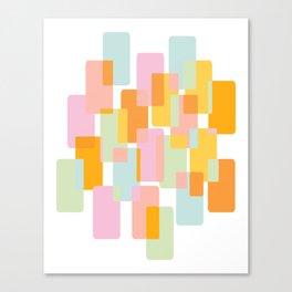 Pastel Geometric Shape Collage Canvas Print