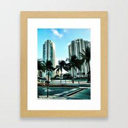shining street Framed Art Print
