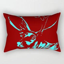 Art print: the Reindeer named Caribou (red) Rectangular Pillow
