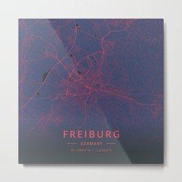 Freiburg, Germany - Neon Metal Print