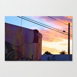 Wynwood Walls Sunset Canvas Print