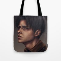levi Tote Bags featuring Levi Ackerman by trixdraws