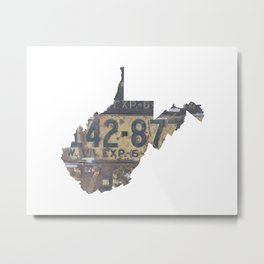 Vintage West Virginia Metal Print