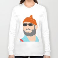 the life aquatic Long Sleeve T-shirts featuring life aquatic  by Chad spann