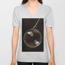 Blaise Alexandre Desgoffe - A soap bubble exhibiting interference colours - Digital Remastered Edition Unisex V-Neck