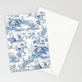 Powder Blue Chinoiserie Toile Stationery Cards