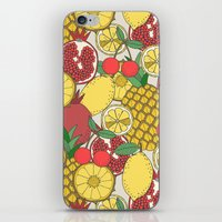fruit iPhone & iPod Skins featuring Fruit by Valendji