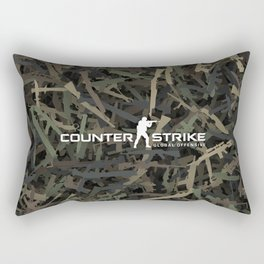 Counter strike weapon camouflage Rectangular Pillow