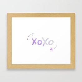 xoxo bohemian Framed Art Print