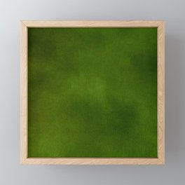 Green Color Velvet Framed Mini Art Print