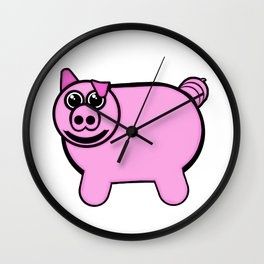 Stuffed Pig Wall Clock