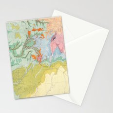 Southwest Map - Pastel Stationery Cards