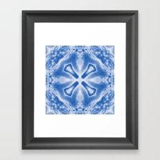 Kaleidoscope in Blue Framed Art Print
