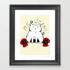 Meowzers Framed Art Print